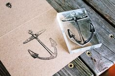 Anchor Stamp - Anchor Rubber Stamp - Sailing Rubber Stamp by DeepSeaStamps on Etsy https://www.etsy.com/listing/150358202/anchor-stamp-anchor-rubber-stamp-sailing