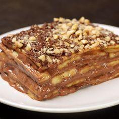 Sweet Recipes, Cake Recipes, Dessert Recipes, Crepes, Heath Food, Torta Recipe, Chocolate Biscuit Cake, Torte Cake, Different Cakes