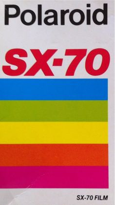 #photographic fonts #polaroid #SX-70 film packet via @richardovery