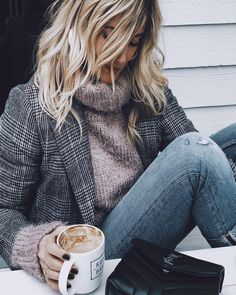 Just need a nice blazer & fluffy turtle-neck to try this look out