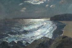 "blastedheath: "" Julius Olsson (British, 1864-1942), Moonlit Bay. Oil on canvas, 19 x 28 in. """