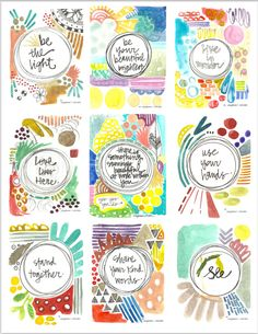Be the Light.  Stand Together.  - Wisdom Set No. 17 - Digital Download by silvertreeart on Etsy