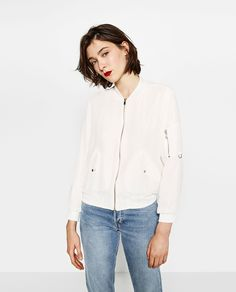 ZARA - WOMAN - CREPE BOMBER JACKET