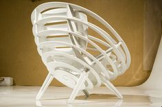 Plywood chair SATURN by Alexander Dikalov, via Behance
