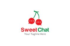 Sweet Chat Logo by gunaonedesign on Creative Market
