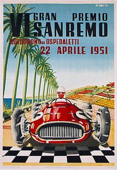F1 - 1951 Extra-championship - Italy - San Remo - Poster