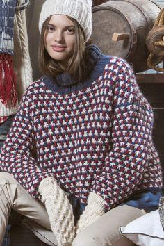 Naisen kohoneulepusero Novita Joki | Novita knits