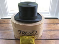 19th Century Gentleman's Mole Skin Top Hat by RubydoDesigns