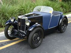 1930 MG M-Type Midget with fabric boat-tail roadster body.