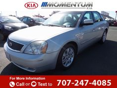 2005 *Ford*  *Five* *Hundred* *SEL*  137k miles Call for Price 137784 miles 707-247-4085 Transmission: Automatic  #Ford #Five Hundred #used #cars #MomentumKia #Vallejo #CA #tapcars