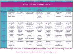 PiYo Week 2 Women's Progress Update and Meal Plan  For more go to www.HealthyFitFocused.com