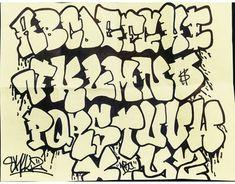 Graffiti Alphabet Styles, Graffiti Lettering Alphabet, Graffiti Text, Chicano Lettering, Graffiti Words, Graffiti Writing, Tattoo Lettering Fonts, Graffiti Tagging, Graffiti Designs
