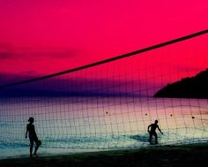 Volleyball sunset #Italy #Beach Volley Sunset