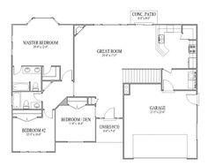 Fairview by Wardcraft Homes Ranch Floorplan Different kitchen
