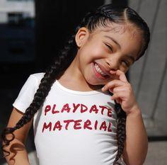 Playdate Material Vinyl DIY, cute kid, curly hair