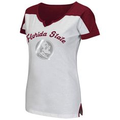 7c69007e9 Florida State Seminoles Colosseum Women s Get Spirited Scoop Neck T-Shirt -  White Garnet