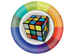 Rubik's Cube with faces Pigment by David Damour