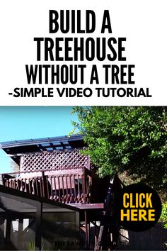 How to Build a Treehouse Without a Tree – Simple Video Tutorial - The Saw Guy Building A Treehouse, Cool Tree Houses, Diy Projects For Kids, Backyard Patio, Step Guide, Outdoor Activities, Improve Yourself, Easy Diy, Yard Ideas