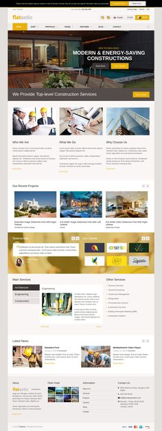 Flatastic is best responsive multipurpose #WordPress Theme 2015 with modern and clean design. #Construction #website