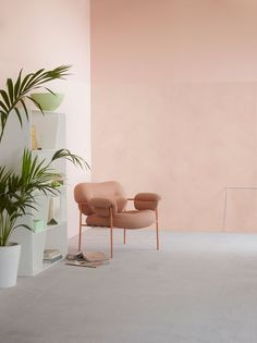Lady Minerals Deco Pink 2782 - den flotte farve i Minerals Kalkmaling! Interior Design Inspiration, Home Interior Design, Interior Architecture, Interior And Exterior, Interior Decorating, Peach Walls, Pink Walls, Interior Pastel, Color Interior