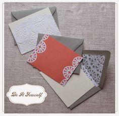 Érase una vez Bodas y Eventos: DIY: tarjetas con blondas de papel y cartulinas
