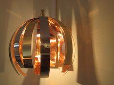Love light, 2011 Appliques murales, finitions acier intérieur cuivre. Design Willy Rizzo