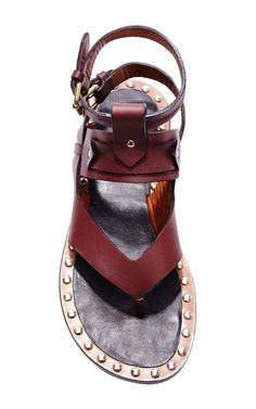 Circus Maximus Justy Shoes In Burgundy by Isabel Marant for Preorder on Moda Operandi The Best of sandals in 2017.