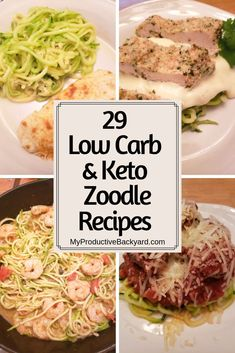 29 Low Carb Keto Zoodle Recipes: Delicious recipes for the most popular pasta replacement; Low Carb Dinner Recipes, Keto Recipes, Delicious Recipes, Free Recipes, Cheap Recipes, Keto Foods, Ketogenic Recipes, Healthy Recipes, Zoodle Recipes