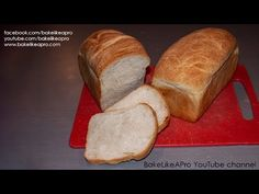 Easy Perfect Plain White Bread Recipe - The Ultimate Guide ! Good Food, Yummy Food, Best Food Ever, White Bread, How To Make Chocolate, Bread Recipes, Yummy Recipes, Food Videos, Bakery