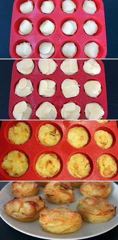 Sprøde små kartoffelstakke, som tilmed er supernemme at lave og så smager de helt forrygende.