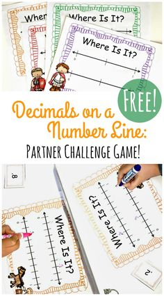 Practicing reading, ordering and comparing decimals? Grab this FREE Decimals on a Number Line Game! Similar to battleship, this will give kids practice with decimals in a fun, engaging way!  http://mathgeekmama.com/decimals-on-a-number-line-game/?utm_campaign=coschedule&utm_source=pinterest&utm_medium=Bethany%20%7C%20Math%20Geek%20Mama&utm_content=Decimals%20on%20a%20Number%20Line%20Game%20that%20Kids%20LOVE%21