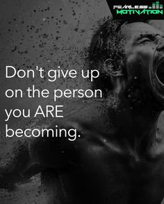 Don't give up on your FUTURE SELF. #FearlessMotivation Word Of The Day, Quote Of The Day, Quotes To Live By, Life Quotes, I Promise You, You Gave Up, Don't Give Up, Word Porn, Giving Up