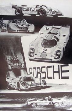 PORSCHE 3rd World Championship 1971 RACING POSTER 917K von Motorace