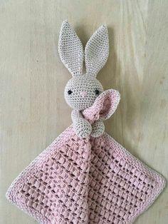 Crochet Security Blanket, Crochet Lovey, Crochet Baby Toys, Crochet Bunny, Crochet Blanket Patterns, Baby Knitting Patterns, Crochet For Kids, Amigurumi Patterns, Crochet Animals