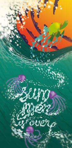 Summer is over! #erre #erreurrutia www.erreurrutia.com My Works, Waves, Abstract, Artwork, Summer, Outdoor, Design, Summary, Outdoors