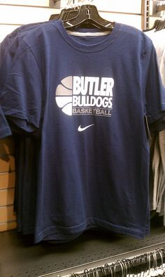 -$25.00 Available at the Butler Bookstore . Nike Butler Basketball TShirt by butler bulldogs, via Flickr Butler Basketball, Basketball Tips, Basketball Shirt Designs, Basketball Shirts, Butler Bulldogs, Fan Shirts, Spirit Wear, Apparel Design, Sport Outfits