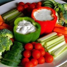 Use peppers to serve dips.