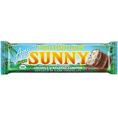 Amy's SUNNY Organic Candy Bar (Coconut & Roasted Almonds & Dark