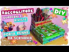 Tutorial: Organizzatore Quaderni e Porta Penne da Scrivania | Riciclo Creativo | DIY Book&Pen Holder - YouTube
