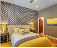 Yellow Bedroom. Bedroom  Gray And Yellow With Calm Nuance After We Added Those Pops Of The Art Prints Paris Over grey and yellow bedroom DIY Ideas For Girls Or Boys Furniture Grey