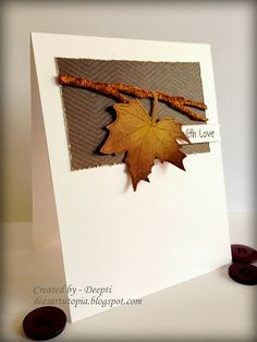 Dee's Art Utopia: In love with Maple leaf...