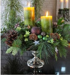 Christmas Decor DIY decor diy centerpiece Christmas Get Ready To Show Off Your Decorating Skills Centerpiece Christmas, Christmas Flower Arrangements, Winter Centerpieces, Decoration Christmas, Christmas Flowers, Christmas Candles, Centerpiece Decorations, Xmas Decorations, Christmas Home