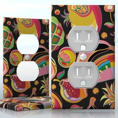 DIY Do It Yourself Home Decor - Easy to apply wall plate wraps | Fruit Jar  Preserves  wallplate skin sticker for 1 Gang Wall Socket Duplex Receptacle | On SALE now only $3.95 Do It Yourself Home, Light Switch Covers, Plates On Wall, Preserves, Decals, Wraps, How To Apply, Jar, Stickers