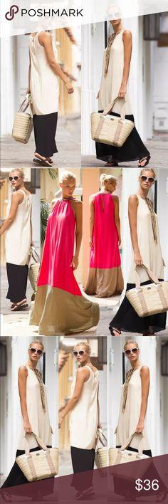 "2 Tone Black & White Long Summer Maxi Dress Chiffon Black & White Summer Beach Long Maxi Dress.  Bust: small 34 1/2"", medium 36 1/4"", large 37 3/4"" extra large 39 1/4"".   Length:small 52 3/4"", medium 53 1/2"", large 54 1/4"", extra large 55"".                                                                                   Price is firm unless bundled.  🚫 No trades, thanks. Dresses Maxi"