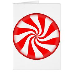 Peppermint Candy Card #cards #christmascard #holiday