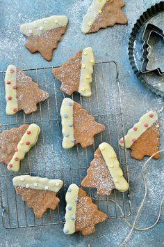 Christmas Food Treats, Christmas Baking, Christmas Cookies, Biscuit Cookies, Cake Cookies, Cupcake Images, Luxury Food, Mini Foods, Pie Dessert