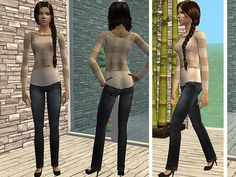 's Fresh And Modern Everyday Outfits - Beige Top and Jeans