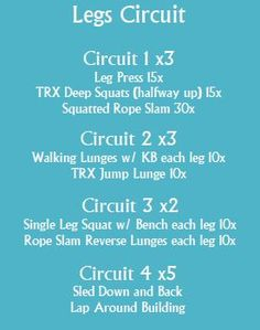 Leg Circuit