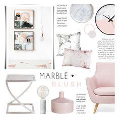 """Marble + Blush"" by c-silla ❤ liked on Polyvore featuring interior, interiors, interior design, home, home decor, interior decorating, Caravan, CB2 and Balmain"