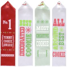 Cookie Exchange Award Ribbons - Wilton Cookie Decorating Party, Wilton Cake Decorating, Cookie Exchange Party, Christmas Cookie Exchange, Cookie Pops, Cookie Swap, Winter Wonderland Christmas Party, Baking Supply Store, Christmas Cocktails